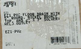 Zurn EZ1 PVC Floor Drain With 5 inch Nickel Bronze Strainer EZ1 PV2 image 5