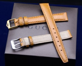 New Gucci 14 MM Tan Lizard Watch Band - Large - 14.125 - $24.95