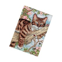 Dimensions Gold Collection Counted Cross Stitch Kit, Napping Kitten, 18 Count - $23.99