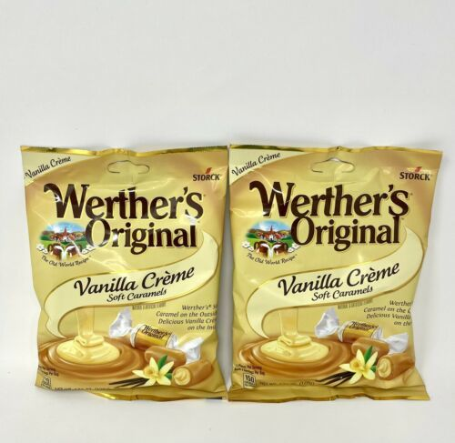 Werther's Vanilla Creme Soft Caramels Werthers Chewy Candy ~ Lot of 2 Bags - $12.38