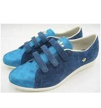 Adidas Sleek Series Vintage Sneakers Blue Suede & Silk Size 8 - $106.52