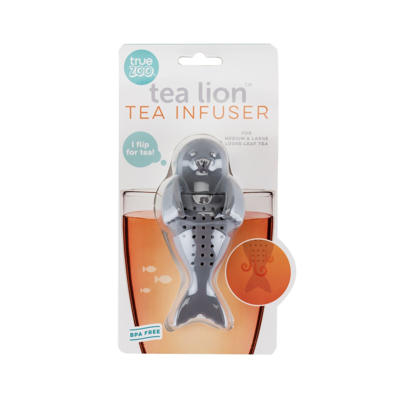 Tea Infusion, Tea Lion Silicone Grey Loose Leaf Cute Tea Cup Infuser