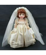 "Vintage Madame Alexander Bride Auburn Hair Blue Eyes Doll 1589 14"" & Box - $50.00"