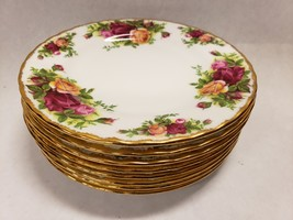 Set of 8 Royal Albert Bone China England Old Country Roses Bread & Butter Plates - $118.79