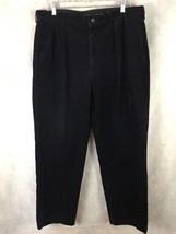 Polo Ralph Lauren Dark Blue Corduroy Pleated Cotton Pants 36 X 30 - $26.68
