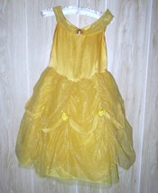 DISNEY STORE Girl's Princess Belle Dress Up Costume w/Accessories size 7... - $34.45