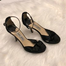 Women's Jimmy Choo Black Satin Macy Sandals sz 6.5 - $144.05