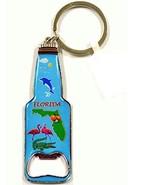 Bottle Shaped Florida Scenic Bottle Opener Keychain - Florida Souvenirs - $4.99
