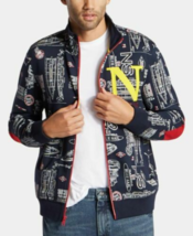 $118 Nautica Mens Blue Sail Printed Track Jacket, Blue, M - $49.49