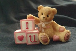 1996  Enesco: Cherished Teddies - BLOCKS - I LOVE YOU  #156515 Priscilla... - $7.91