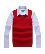 Autumn Winter Cashmere Classic Vest Sweater Men Sleeveless Sweaters Busi... - $32.00
