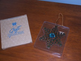 AVON 1998 Gift Collection Classic Christmas  BIRTHSTONE Snowflake Ornament NEW - $21.77