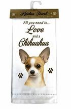 CHIHUAHUA TAN DOG COTTON KITCHEN DISH TOWEL - $9.99