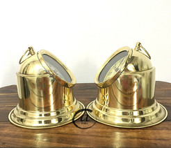 Set Of 2 - Couple Clocks Shiny Brass/Golden Finish Clocks For Couple Table Decor - $53.48