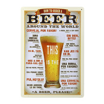 How to Order a Beer - Vintage Metal Wall Sign - $19.95