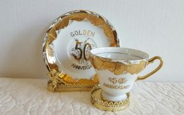 Vintage Norcrest 50 Golden Anniversary Cup and Saucer Made in Japan Exce... - $14.99