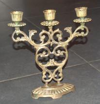 Judaica Shabbat Candlestick Candle Holder Bronze Vintage Israel Hen Holon 1960's image 5