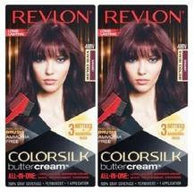 (Pack of 2) Revlon Colorsilk Buttercream Hair Dye - Vivid Burgundy - 48BV - $19.79