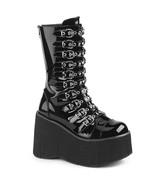 "DEMONIA Kera-50 Series4 1/2"" PF Calf-High Boot - Black Patentent - $67.95"