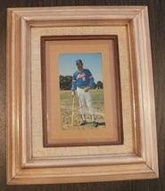 Framed autographed 1986 photo of NY Mets Manager Davey Johnson - $55.00