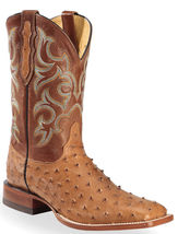Handmade Men's Ostrich Print Leather Cowboy Mexican Western Taxes Jumper Boot - €425,87 EUR