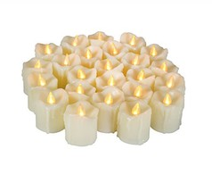 24 Battery Operated Flameless LED Votive Candles Realistic Flickering El... - $23.74