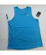 Nike Men Dry Miler Running Shirt - AT3947 - Aqua 482 - Size L - NWT - $19.99