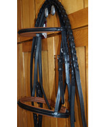 Bobby's Tack COB Sz Black with Brown Padding Bridle w/Laced Reins - $142.00