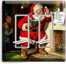 Retro Santa Claus Christmas Double Gfci Light Switch Wall Plate Cover Home Decor - $10.77