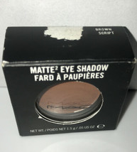 MAC Cosmetics Eyeshadow BROWN SCRIPT  New in Box  Reddish Brown - $28.79