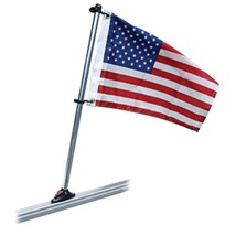 Taylor Made Pontoon 24 Flag Pole Mount & 12 x 18 US Flag - $58.66