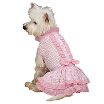 East Side Collection ZM3243 06 75 Charlotte Ruffle Dress for Dogs, Teacu... - $13.27