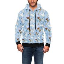 Alice In Wonderland Icons Men Zip Up Hoodie - $94.99 - $100.99