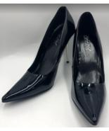 Highest Heel Collection Women's Black Patent Pump Metal Heel Pointed Toe... - $55.98