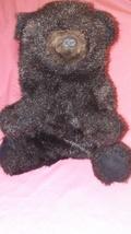 "Folkmanis Furry Folk BLACK BEAR 9"" Hand Puppet Soft Toy Plush Stuffed Wildlife  - $12.99"