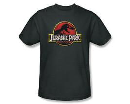 Jurassic Park Original Movie Stone Logo Charcoal T-Shirt NEW UNWORN - $17.41+