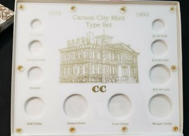 Capital Plastic Holder Carson City Mint Type Set White Case. Very good condition