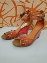 VIA SPIGA BIANA White Multi Leather Designer Open Toe Wedge Sandals Heels 9 - $42.08