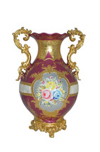 """decoration Vase Gold and Pink -  Size: 12""""L x 9""""W x 17""""H. - $280.00"""