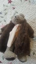 Boyds Bears Skidoo 10 Inch Plush Stuffed Bear with Faux Fur Coat & Scarf... - $9.89
