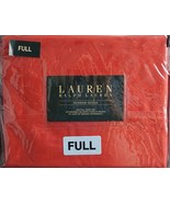 Ralph Lauren Dunham Poppy Orange Red Sheet Set Full - $65.00