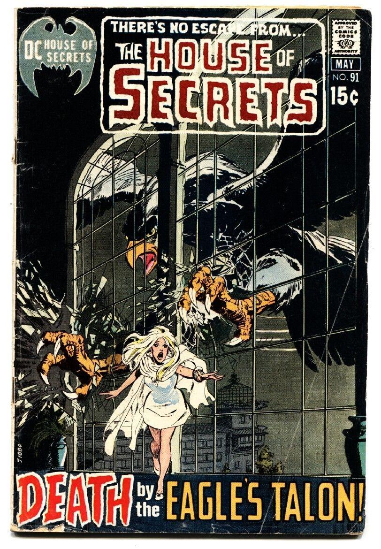 HOUSE OF SECRETS #91 comic book 1971-DC HORROR-WILD EAGLE COVER - $27.74