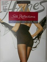 Pantyhose Hanes Silk Reflections High Waist Control Top Gentle Brown Siz... - $9.85