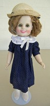 SHIRLEY TEMPLE Ideal Collectors Doll POOR LITTLE RICH GIRL Coat + Stand ... - $14.45