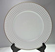 Thun Haviland Fine China Dinner Plate Square Gold Dots - $21.77