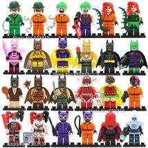 24pcs DC Batman Minifigures Joker Harley Quinn Robin Catwoman Riddler Poison Ivy - $32.99