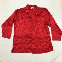 M. T. Morgan Taylor Intimates Women's Red Sleepwear Blouse Size M - $14.83