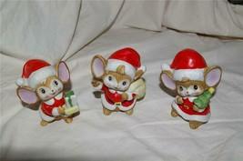 Homco Christmas Mice Trio 5405 Home Interiors - $12.99