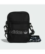 adidas Originals Crossbody Festival Bag Black White Shoulder Bag Mini Tr... - $40.00