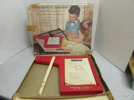 VTG 1960'S OHIO ART ETCH A GRAPH #502 PARTS ONLY MISSING ARMS BOXED TRACING - $9.79